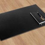 Schreibtischauflage aus Leder
