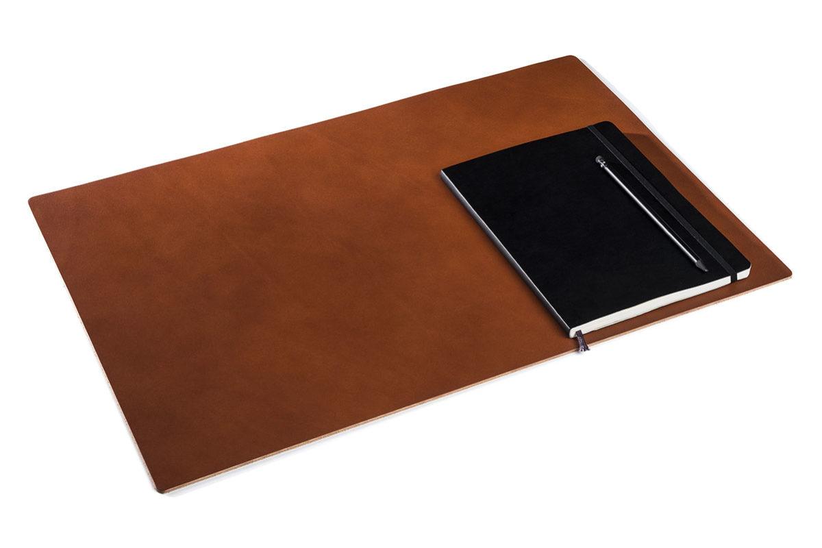 Anmutige Schreibtischauflage Leder