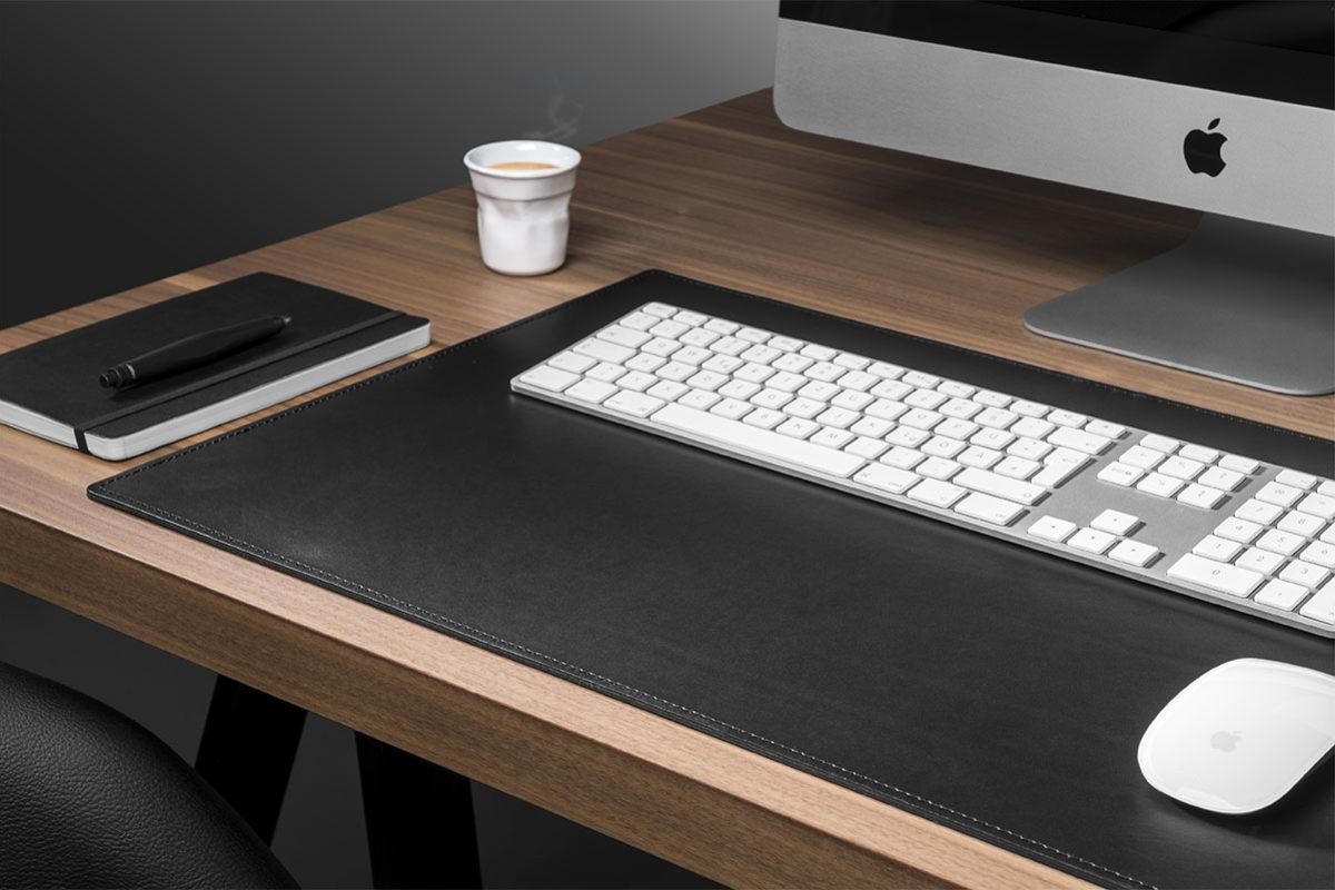 Leder echte Schreibtischunterlage