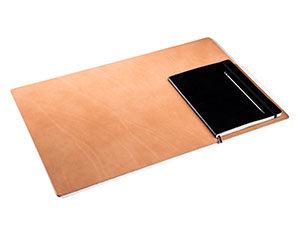 Natur Deskpad Schreibtischauflage aus Leder Groß