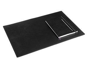Schwarzes Deskpad Schreibtischauflage aus Leder Groß