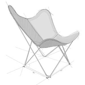 Zeichnung Hardoy Chair