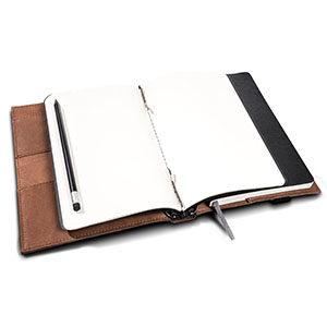 Hochwertiges Notebook aus Leder