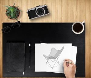 SchreibtischunterlageSchwarz Mockup